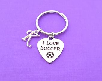 Soccer Keychain Etsy