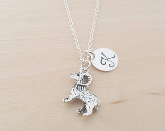 Ram Necklace -  Personalized Necklace - Initial Necklace - Custom Jewelry - Personalized Gift - Gift for Her