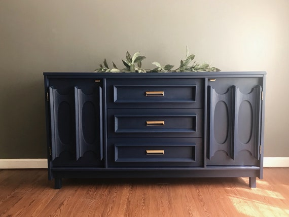 Sold Mcm Mid Century Sideboard Buffet By Bassett Furniture Entertainment Center