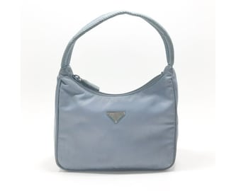0056a577b ... get prada pale blue mini nylon hobo tessuto sport handbag shoulder bag  purse e79f7 4b321
