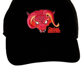 88e7ca2ef43 The Last Unicorn Embroidered Red Bull hat  UNISEX