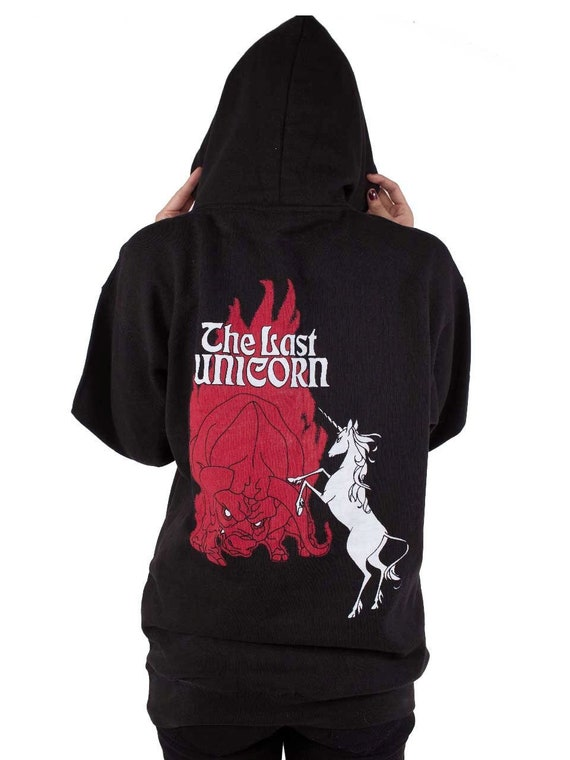 THE LAST UNICORN by Peter S. Beagle Retro Poster Hoodie  d288e8b16730