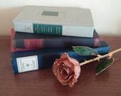 Set of Three Shades of Blue and Green Shelf Mantel Decor Decorative Books