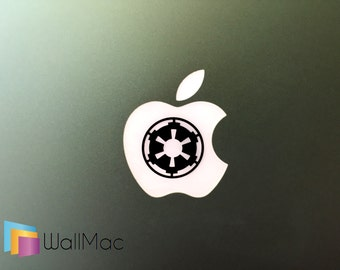 Star Wars Empire Symbol Glowing Backlit Apple Logo for MacBooks 2 Decals Stickers per Order