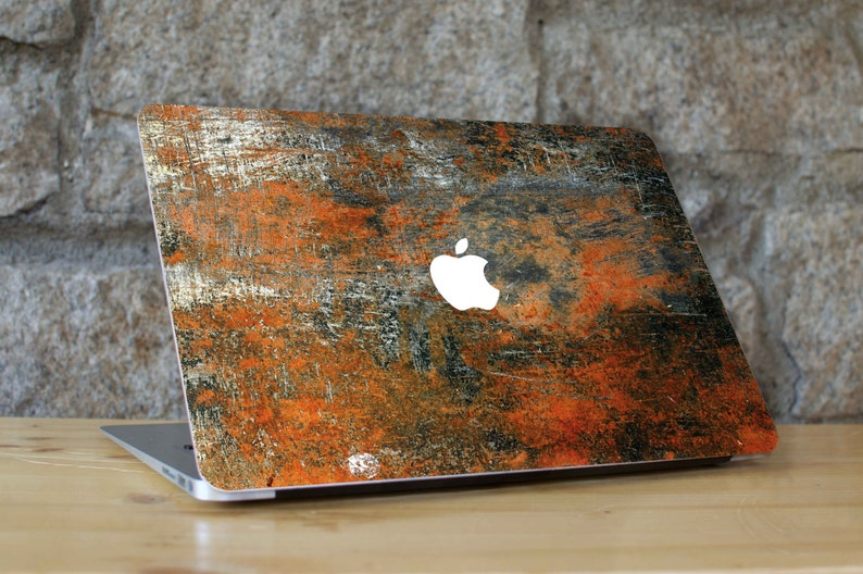 Metal Rust Texture Apple Skin - Peel and Stick Fabric Macbook Skin Cover  Decal for all Macbook Models