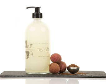 Lychee and rooibos, body soap and hands