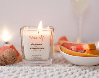 Champagne and grapefruit, soy candle