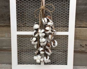 Chicken Wire Window Frame Decor Farmhouse Wall Country Chic Rustic