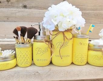 Exceptionnel Yellow Bathroom | Etsy