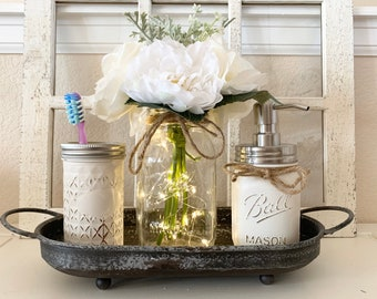 Mason Jar Bathroom Etsy