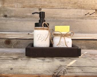 Genial Oil Rubbed Bronze Soap Dispenser, Black, Kitchen Decor, Farmhouse, Mason  Jar Kitchen Decor, Mason Jar Spongeholder, Mason Jar Soap Dispenser
