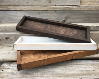Wood Tray, Bathroom Tray, Rustic Wood Tray, Wooden Tray,Farmhouse Tray,  Decorative Coffee Table Tray, Accent Table Tray, Catch All Tray