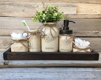Elegant Popular Items For Mason Jar Bath Set