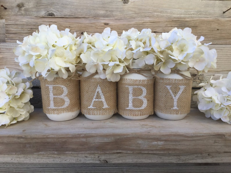 Baby Shower Decor Nursery Decor Rustic Baby Shower Burlap -1919