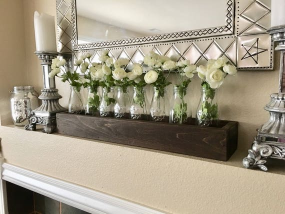 Farmhouse Mantle Decor Rustic Mantle Decor Planter Box With Etsy