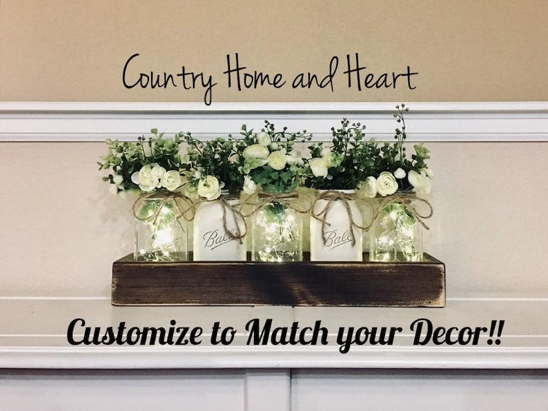Dining Table Centerpiece Spring Wedding Decor Farmhouse