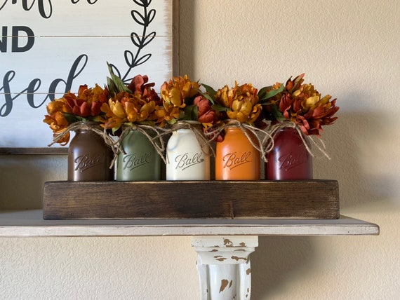 Rustic Fall Dining Room Table Centerpieces Fall Kitchen Etsy