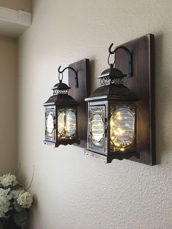Hanging Lantern Sconces Farmhouse Wall Decor Lantern | Etsy