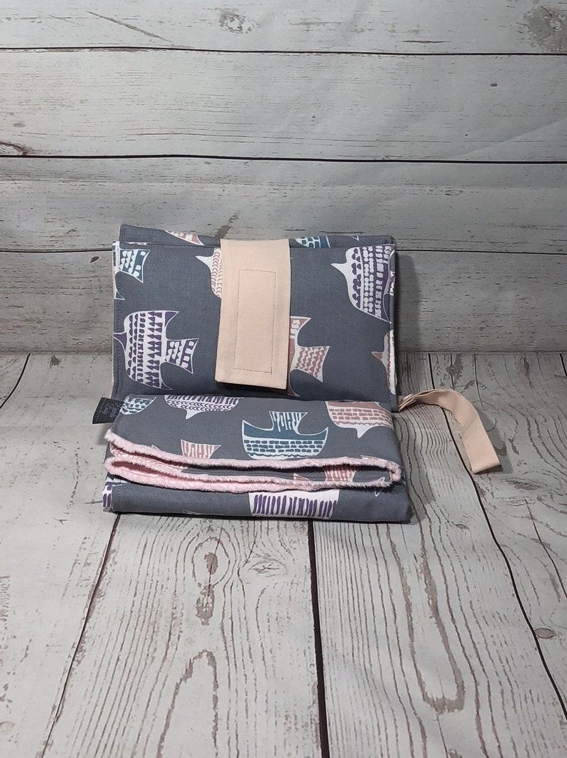 Waterproof changing mat nappy wallet pink kimono diaper clutch baby shower