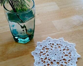 CROCHET PATTERN PDF Instant Download .  Winter Warmth Crocheted Coasters