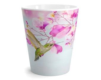 Hummingbird Mug, Ruby Throated Hummingbird, Magnolia Flowers, Gift Ideas, Latte Mug, Original Artwork, Beverage Mug, Ceramic Mug, Coffee Cup