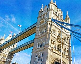 Travel Art Print, Tower Bridge, Thames River, London Art Print, London Travel, Famous Bridge, London England, Travel Photography, Fine Art