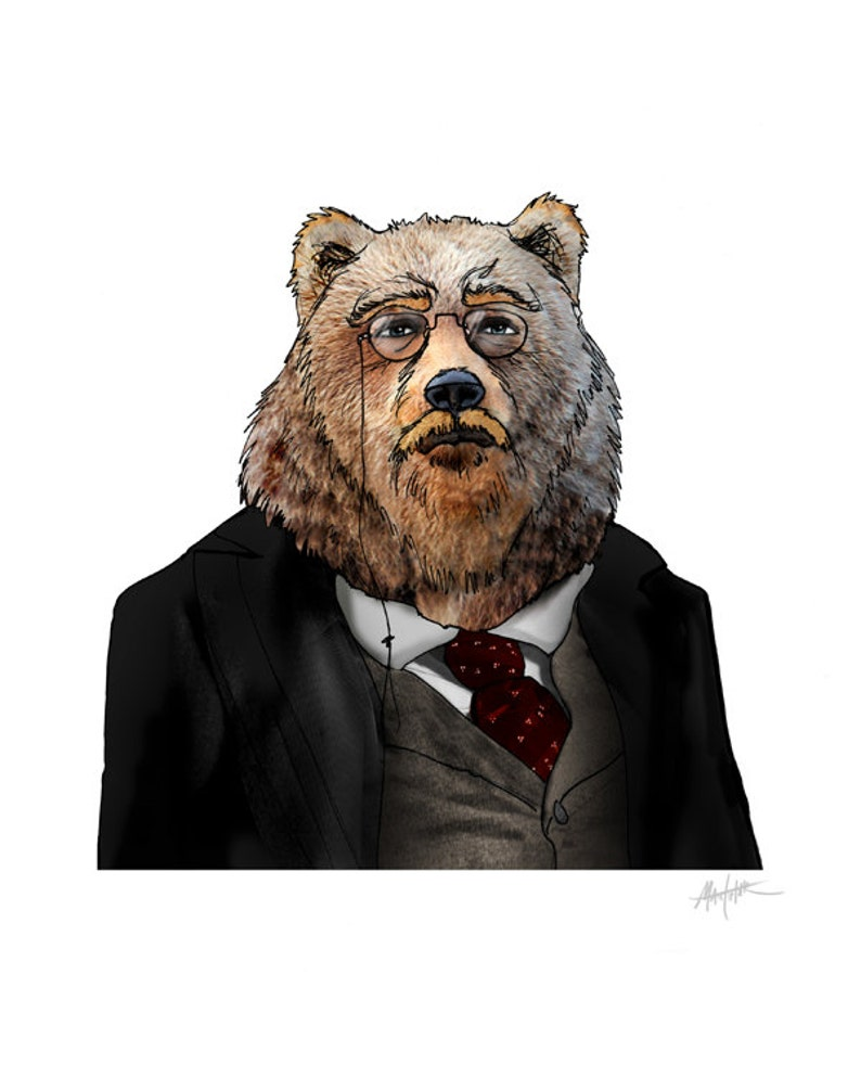 b0470986240 Theodore Roosevelt. Comme un ours brun. Reproduction dArt