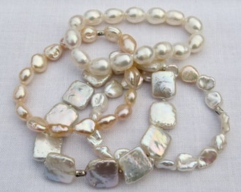 Rosa Bracelet Keshi Pearls Bracelet Keshi /& Rosa Turmaline.