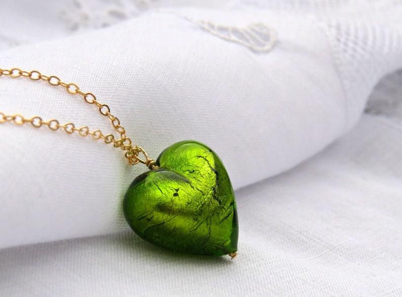 8866aad4bd57 Corazón cristal de Murano collar precioso corazón veneciano