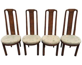 SOLD-Set of Four High Back Henredon Dining Chairs  sc 1 st  Etsy & Henredon chairs | Etsy