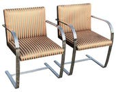 Pair of Flat Brno Chairs attributed to Ludwig Mies van der Rohe for Knoll