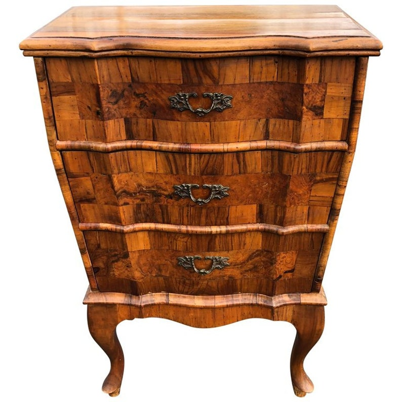 Italianate Olive Wood and Fruit Wood Chest of Drawers