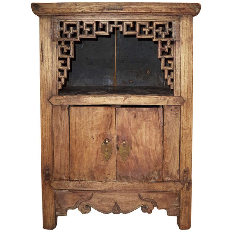 SOLD Asian Cabinet With Fretwork