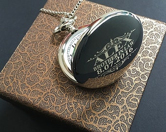 Brother in Law gift-Silver engraved pocket watch-Groomsman gift-Best Man gift-Usher gift-Officiant gift-Wedding gift-Brother in law gift
