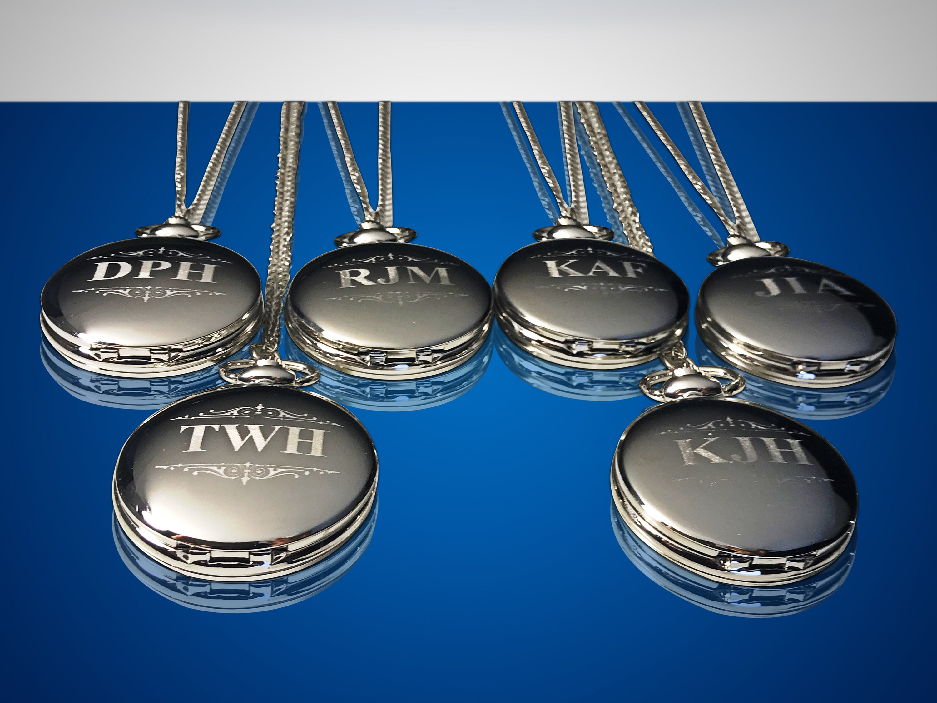 14 Groomsman gifts - Engraved pocket watches - 14 custom engraved pocket watches - Personalized engraved gift - Wedding gifts for him