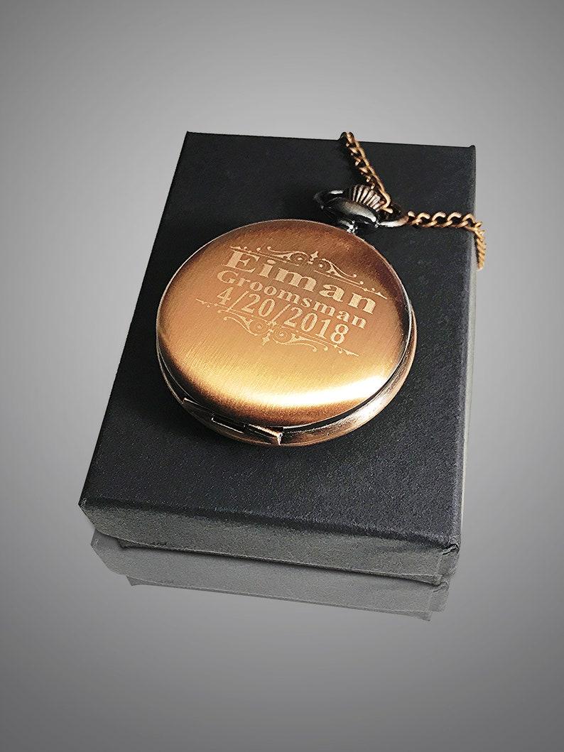 555af3a83 Personalized Pocket watch Rose Gold engraved pocket watch   Etsy