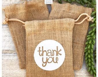 Thank you Favor Bag, Destination Wedding Favor, Favor Bag, Burlap Favor Bag, Wedding Favor Bag, Baby Shower favor, Bridal Shower favor bag