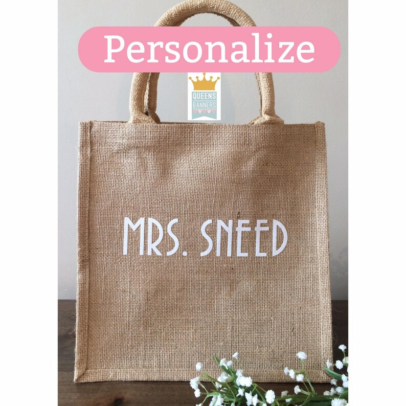 Bride Tote Best Teacher Gift Soon To Be Mrs gift Personalized Bridal Shower gift Teacher Tote Bachelorette gift Bride to Be Tote