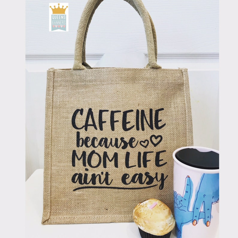 Blessed tote Blessed Gift for her Mom tote Coffee lover tote Caffeine lover tote Tote bag Mothers Day gift Gift for Mom