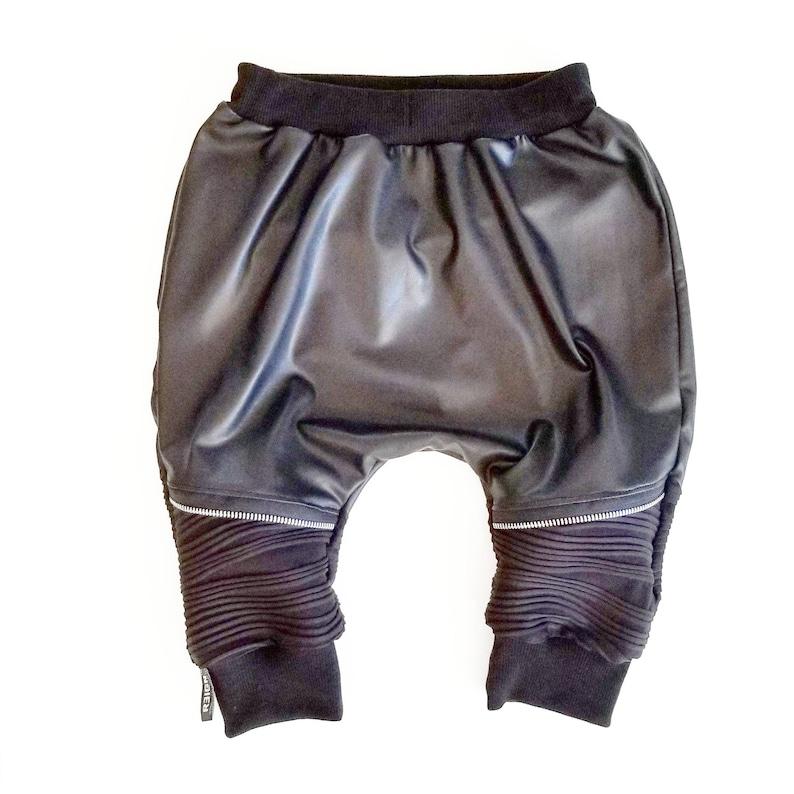 Kids Harem Pants Biker Shorts Toddler Harem Pants Girls Harem Pants Baby Harem Pants Boys Harem Pants Faux Leather Harems