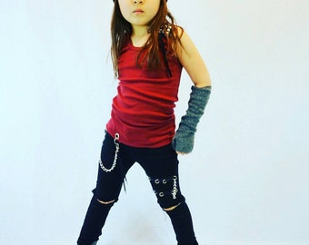 Girls Jeans, Girl Distressed Jeans, Ripped Jeans, Toddler, Skinny Jeans, Kids, Baby Jeans, Boys, Boy, Black Jeans, Denim, Chain, Punk, Reign