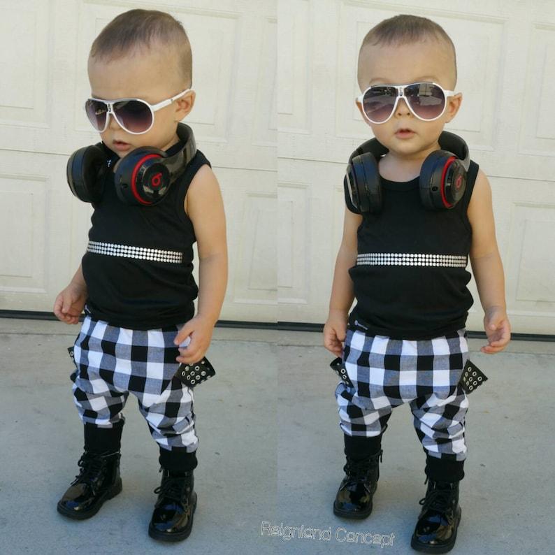 6da54ede0ba0fe Hip trendy baby tank top baby black tank top baby stud tank