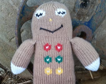 Hand Knitted Ginger Bread Man