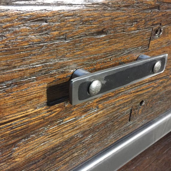 Pipe Metal Wood Drawer Pull Shabby Chic Industrial Cabinets