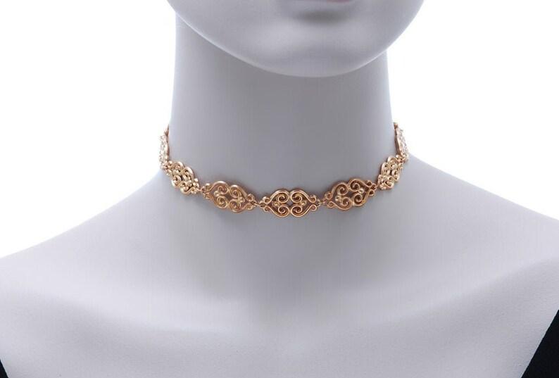 Choker Necklace Best friends gift Dainty Choker Trendy Choker Gold Choker Gunmetal Choker Rose Gold Choker Choker
