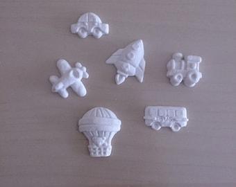 "Chalks ""Transport"" powder ceramic-Favors"