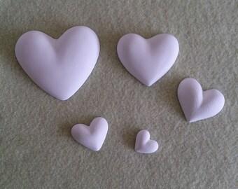 Chalks powder Ceramic heart-Favors