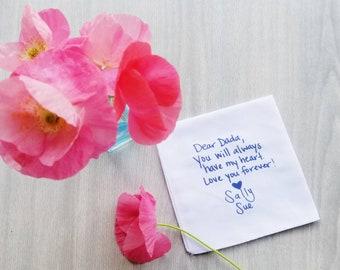 Custom Pocket Square Handkerchief with Your Custom Message