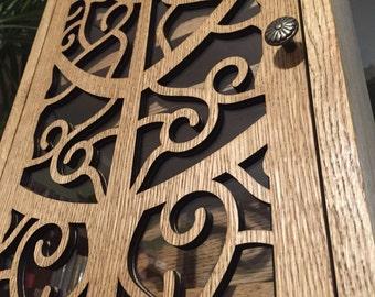 Vertical spice cabinet - tree pattern (walnut/ walnut )