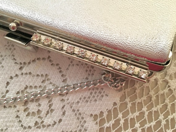 e2b79e376a Vintage 1950 Evening Bag Silver Metallic Purse Retro